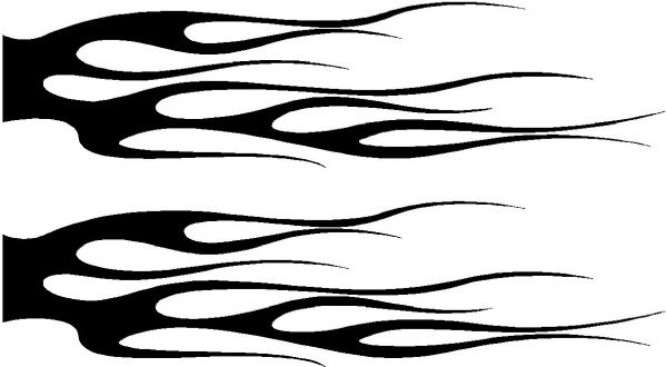 Vehicle Graphic Decal FLAME Design 13